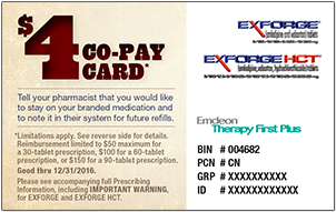 EXFORGE savings card